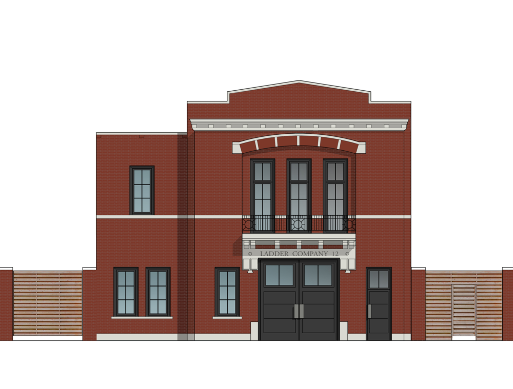 proposed renovated north elevation