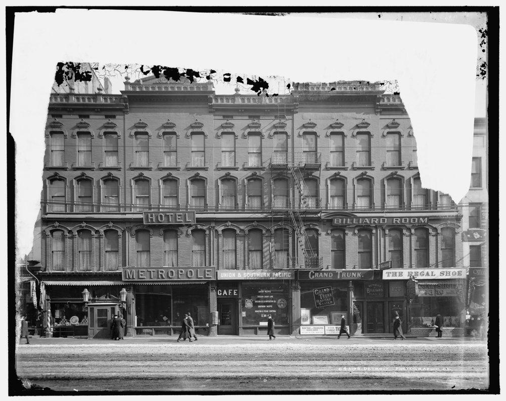 Historic Elevation of Hotel Metropole,c.1889