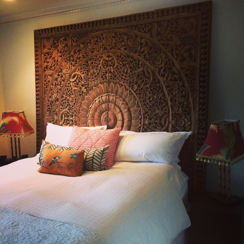 Thai 8'x8' teak wood carving, perfect for a king bed...