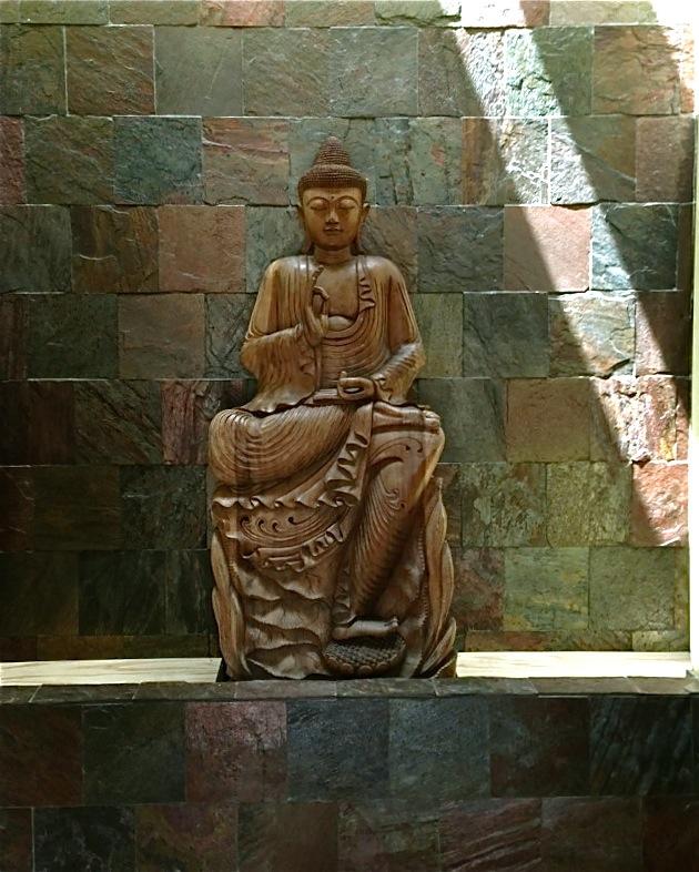 "6'6"" Balinese teak wood Buddha..."