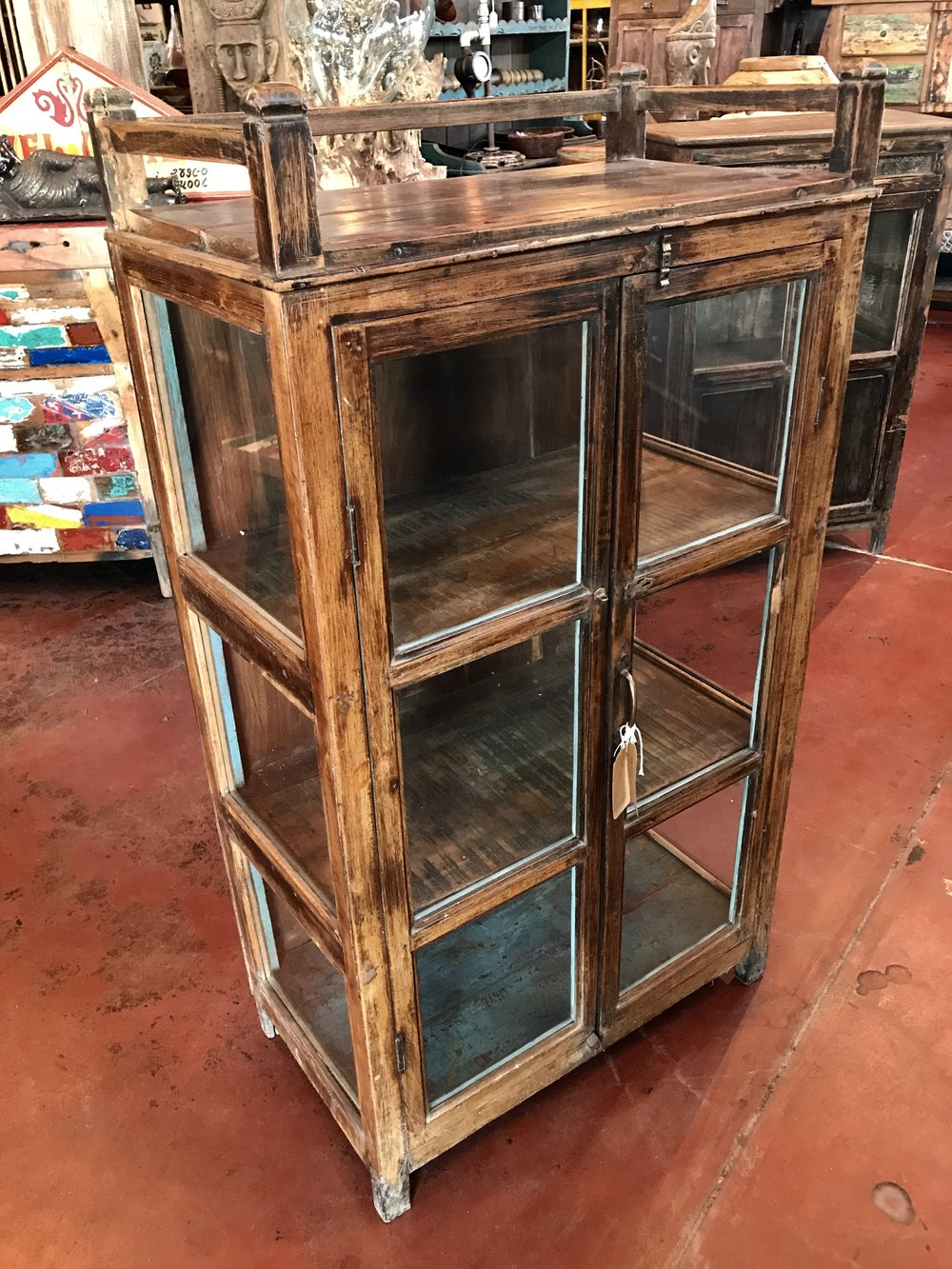"Vintage Indian Display Cabinet    28""W x 16""D x 51""H    $695.00      #RB-35"