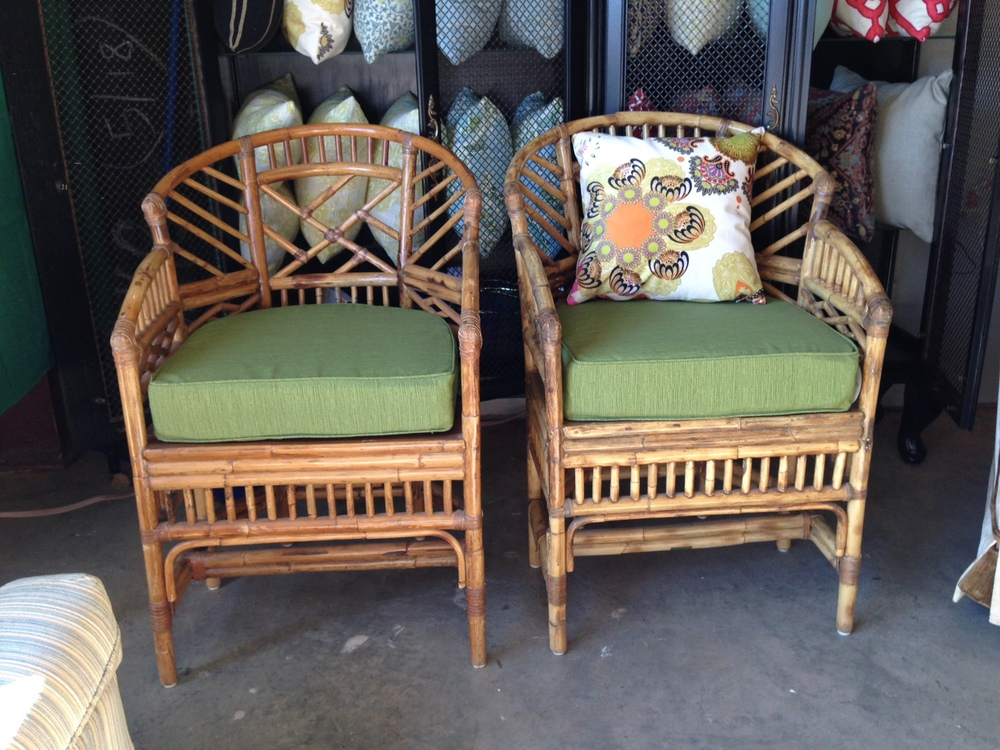 Maitland Smith Chinese Chippendale chairs. Furbish revamped them to up the punch-factor.