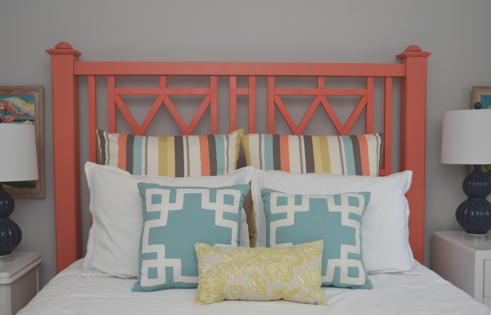 The headboard came from Bella's in Burlington.