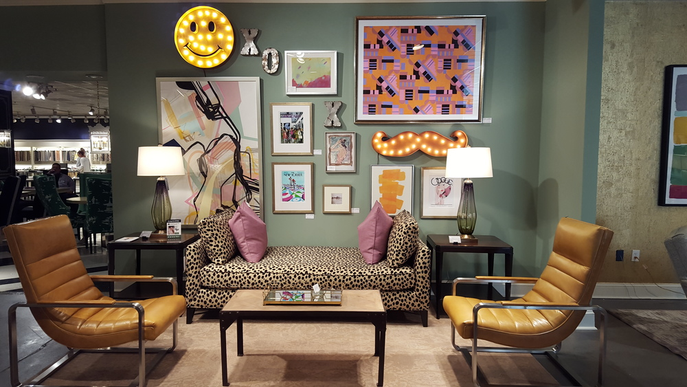 The eclectic mix, the leopard, the gallery wall... it all makes me happy.