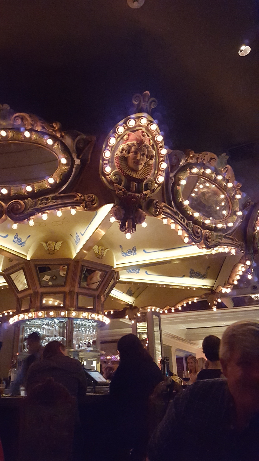 This bar had a spinning carousel! And it was named... Carousel.