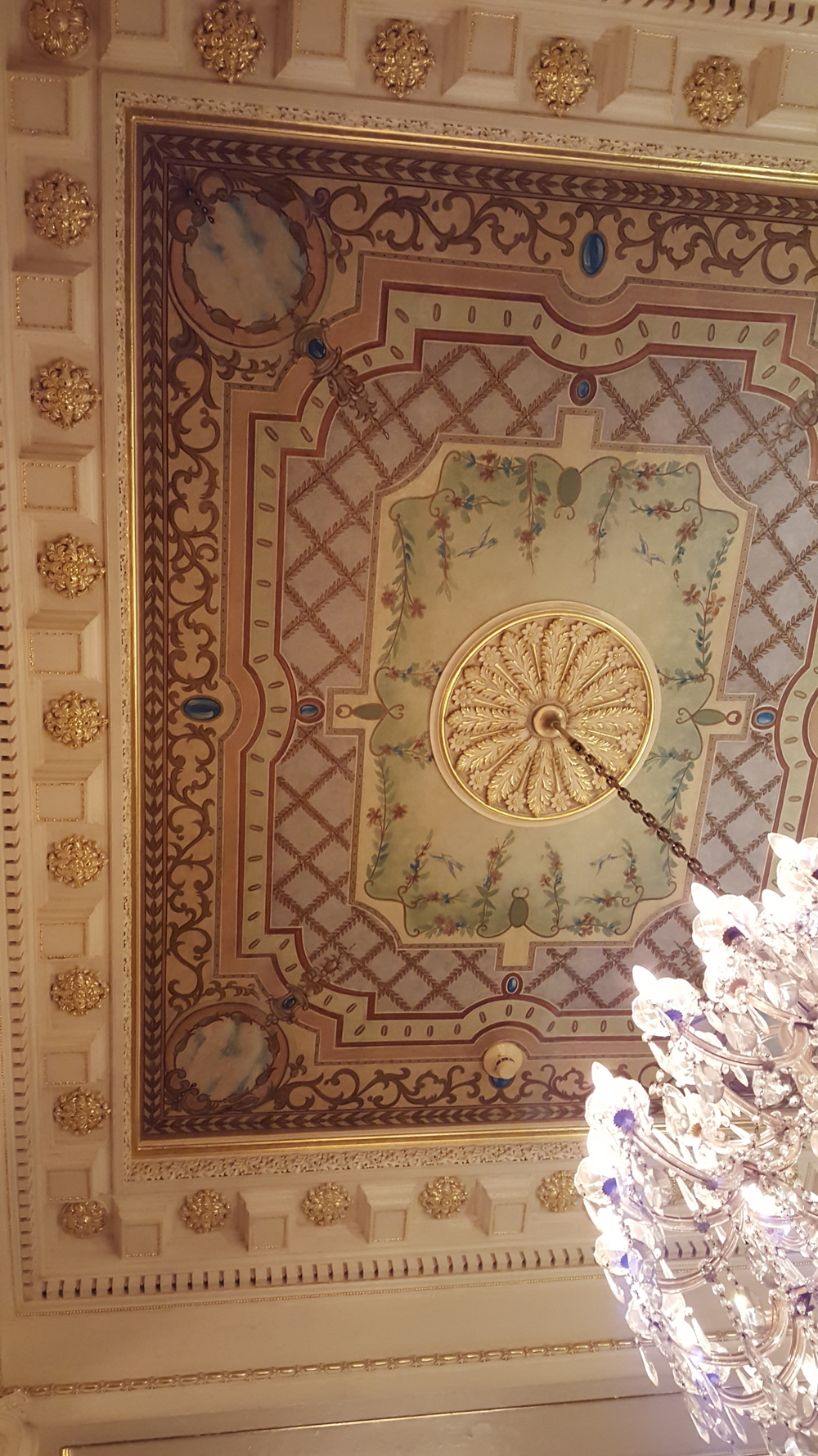 Incredible ceiling detail in one of the hotels.