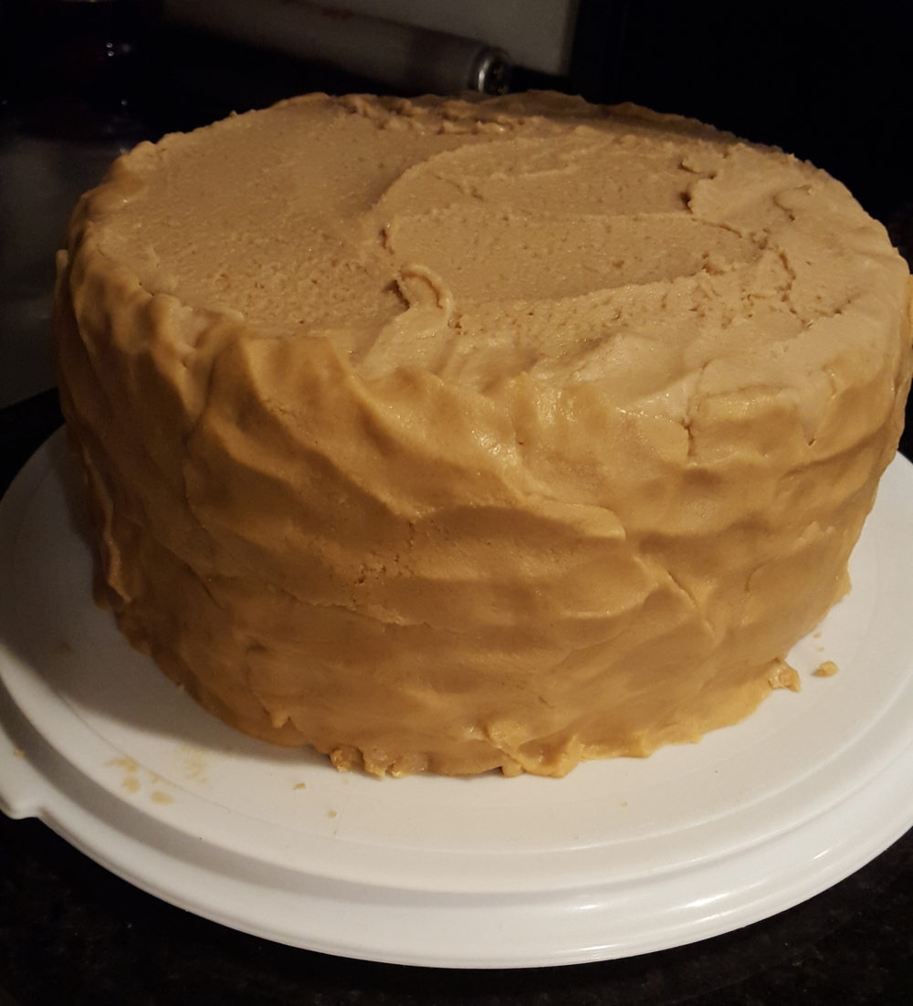 Frosting is more like glopping... it's not the prettiest cake..