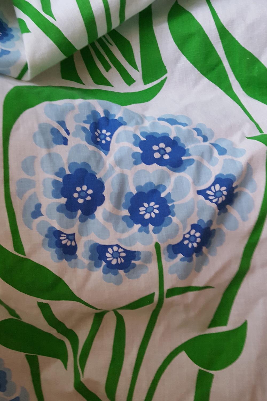 Hydrangea table cloth.