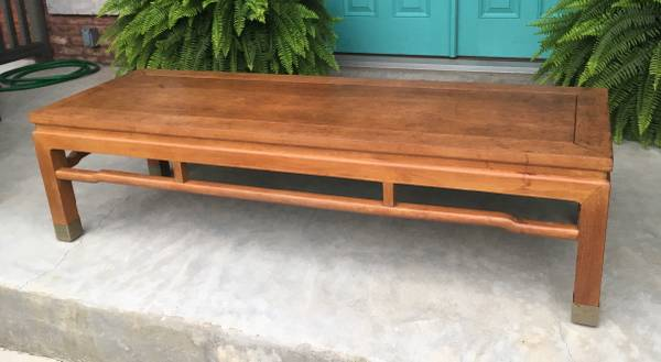 Hello! Perfection as is or, at $100, the price is right for a coat of lacquer!  https://chicago.craigslist.org/nwi/fuo/5787444837.html