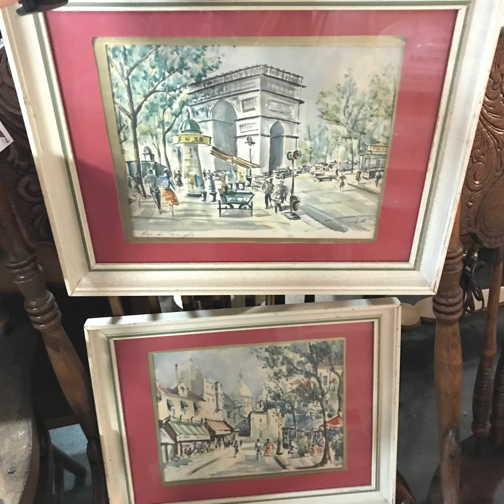 I loved these Parisian watercolors.