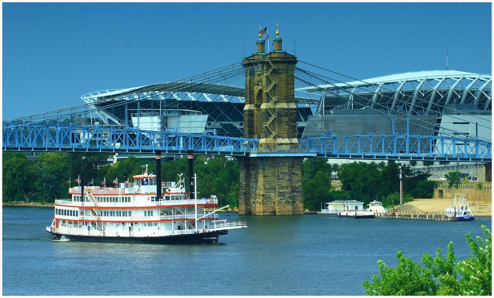 Riverboat & Bengals Stadium, Cincinnati, Ohio
