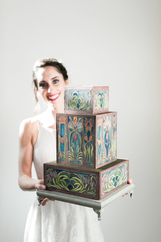 Art Nouveau Cake - Photo by Matthew Land Studios