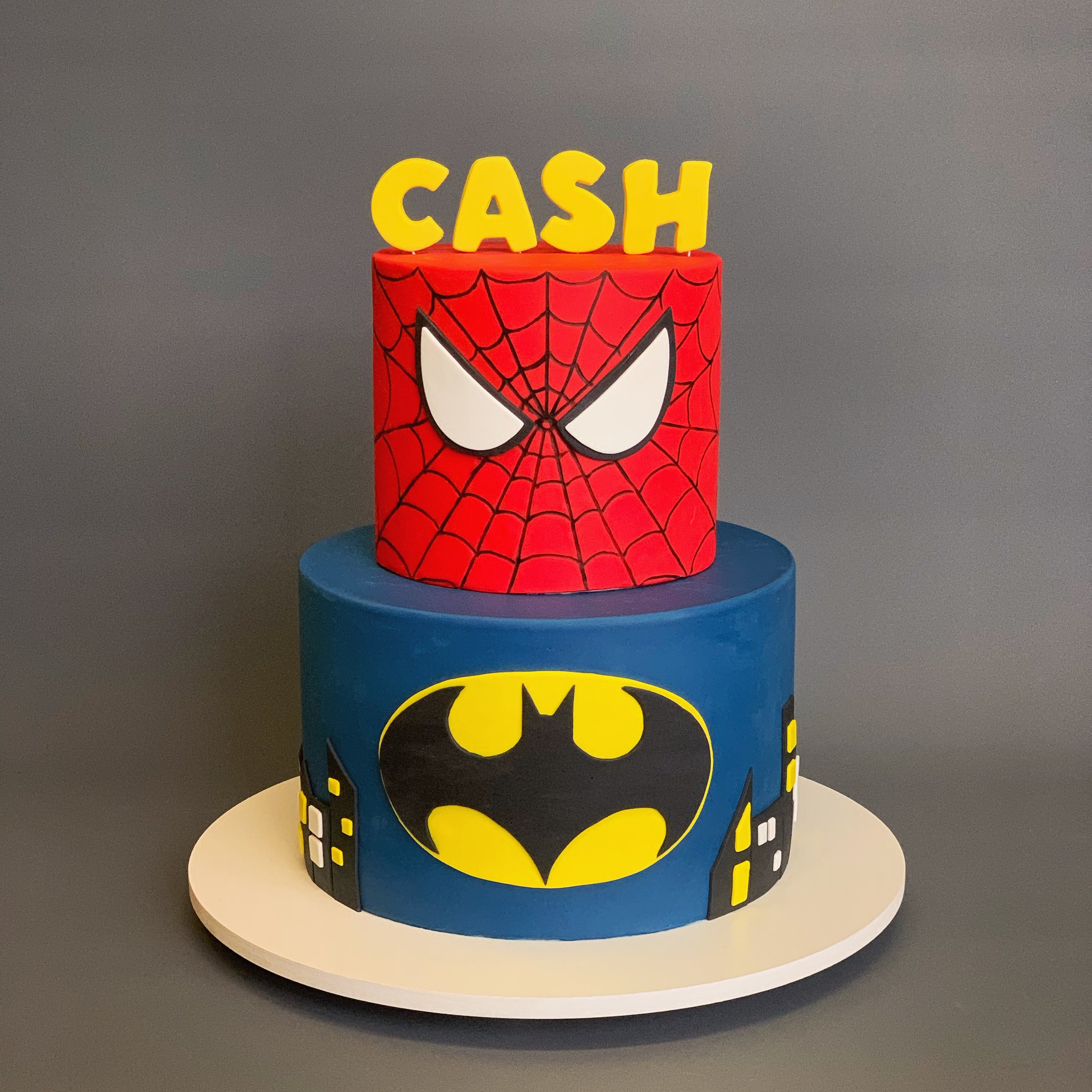 Spider Man And Batman Cake Image Copyright Carla Schier