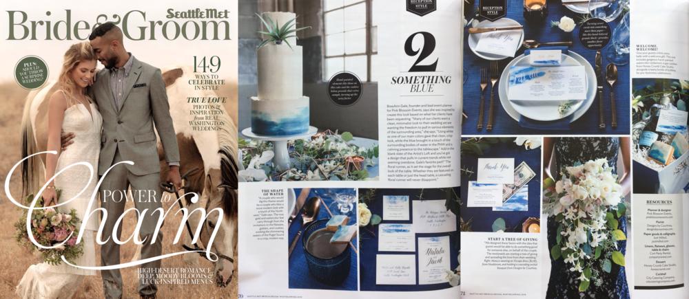 "Seattle Metropolitan Bride & Groom, Winter-Spring 2018 (""Reception Style"" editorial feature)"