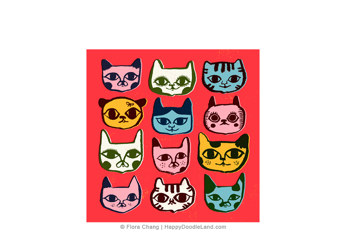 12+Kitty+Faces+©+Flora+Chang+-+Happy+Doodle+Land.png
