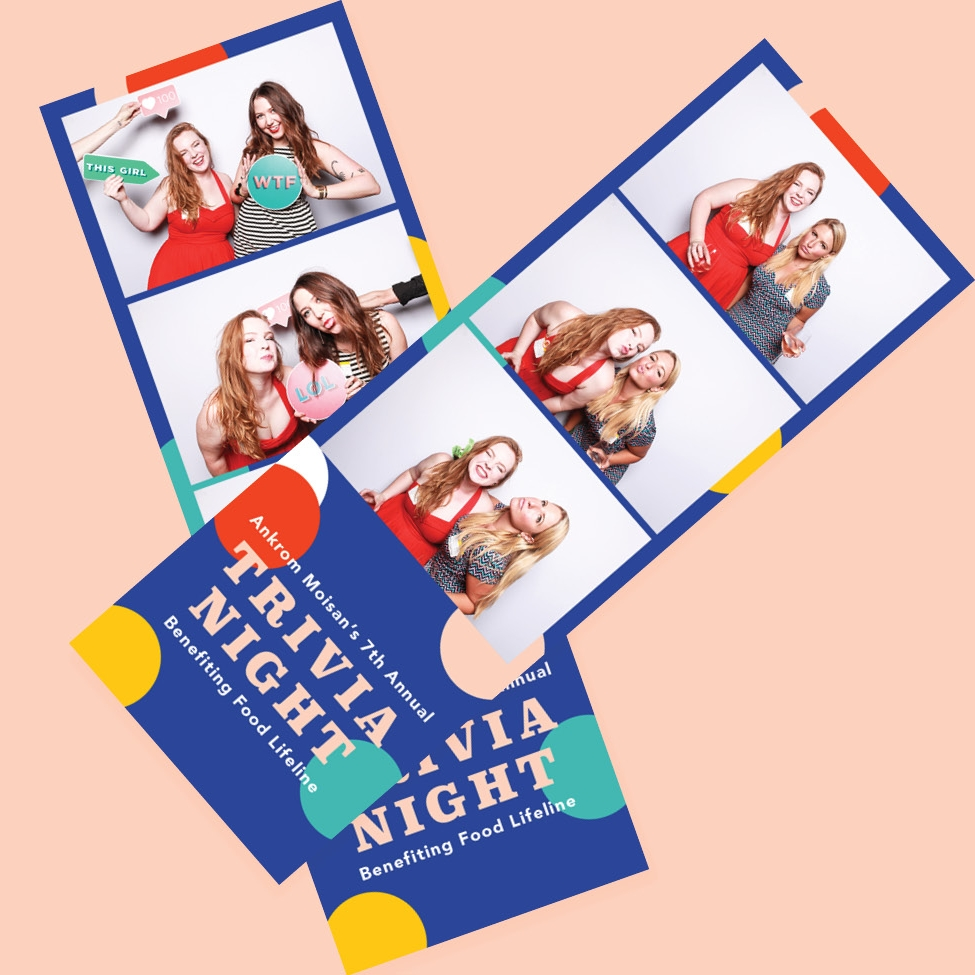 - a photo booth was at the event along with snack and drinks for all to enjoy