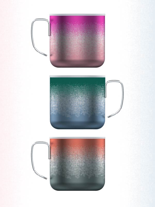 gradient duo - stainless steal mug