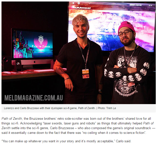 Path to Zenith -Meld Magazine interview at PAX 2016 -    www.meldmagazine.com.au/2016/11/student-stories-takes-bring-game-pax-australia-2016/