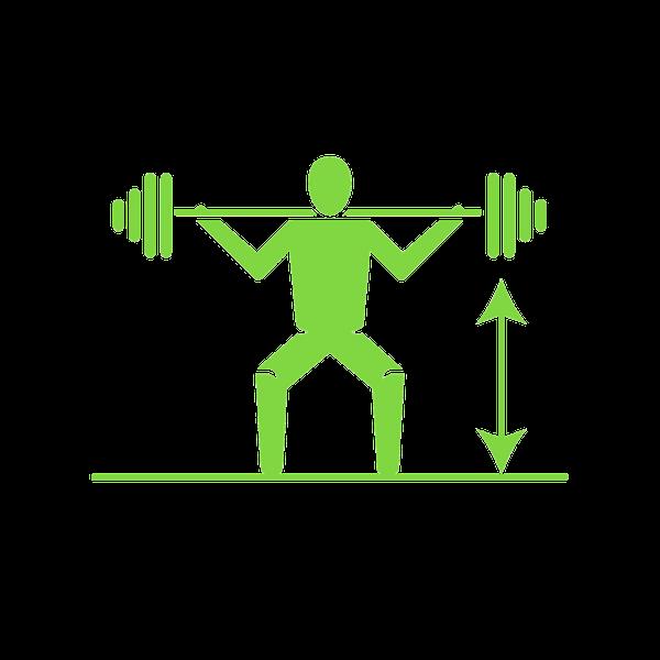 STRONGER HUMANS   Add 52.4 lb. across three main lifts (deadlift, squat & strict press)