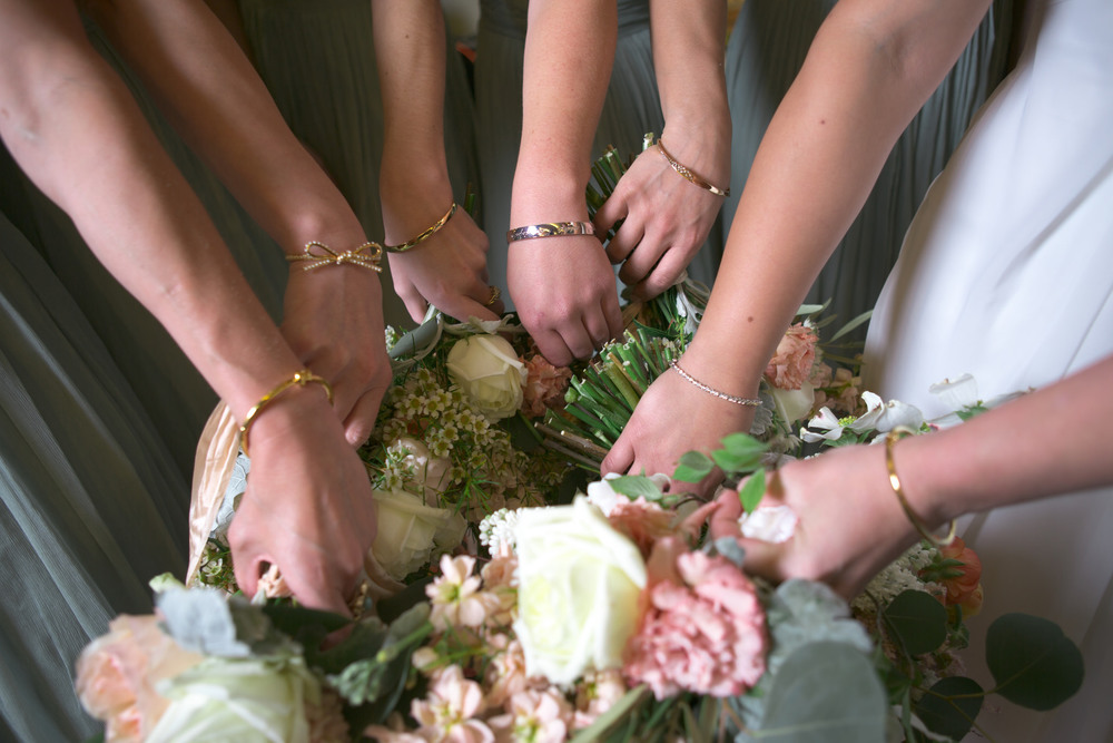 emerald gave out sweet kate spade bracelets to match each of the bridesmaid's personalities.  what a special and thoughtful gift!