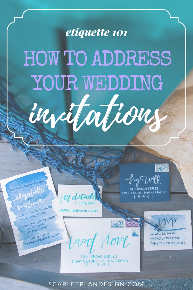 How to Address Your Wedding Invitations Wedding Invitation