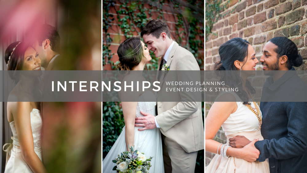 charleston, atlanta, greenville wedding planning internship program