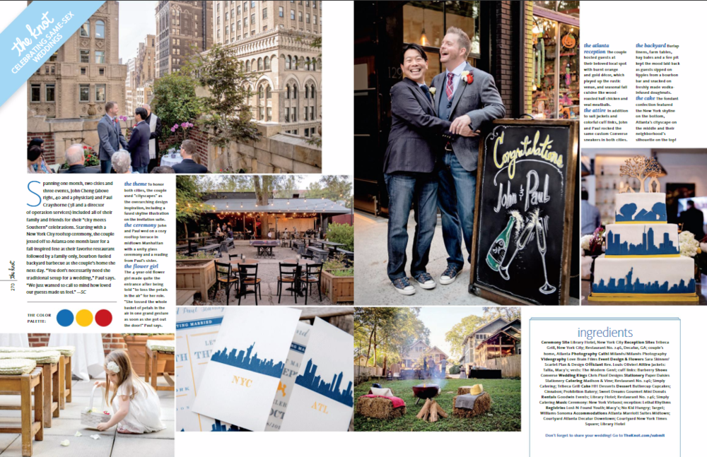 john and paul's epic new york city same-sex wedding planners