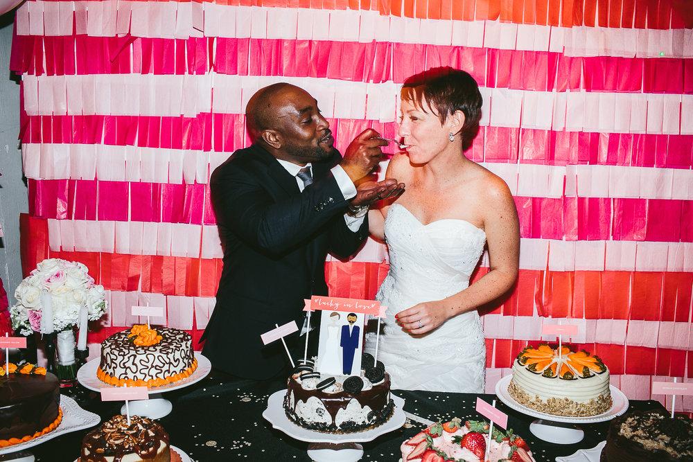 King Plow Arts Center Atlanta Wedding Planners Cake Dessert Table | Scarlet Plan & Design