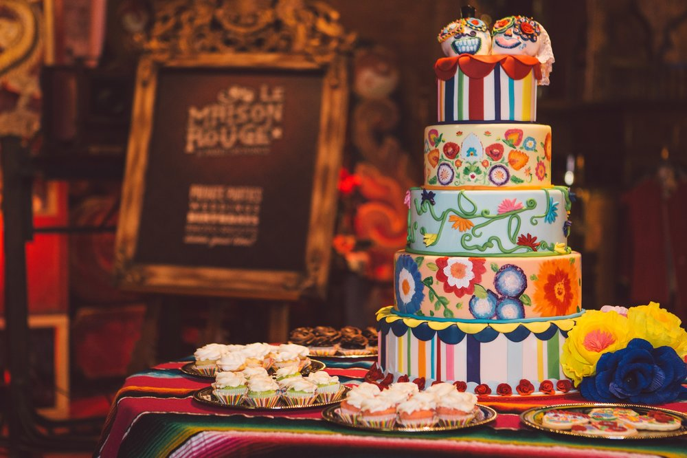Revolution Wedding Tours Dia De Los Muertos Themed Wedding Cake Atlanta Paris on Ponce | Atlanta Wedding Planners, Scarlet Plan & Design