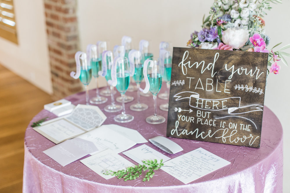 Escort Table Sign