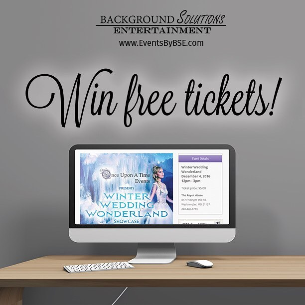 We are excited to announce a giveaway! BSE will be at @onceuponatime.events Winter Wedding Wonderland Showcase in Westminster, MD on December 4th, and we want you to join us! We have a pair of complimentary tickets for one lucky couple.  Want to win? 1. Follow us @EventsByBSE 2. Like this post 3. Tag your fiancé in the comments  That's all! Easy right? We'll randomly select a winner and will notify them via DM by 10PM on November 27th. Learn more about this showcase by clicking the link in our profile. Good luck!  The fine print: Ticket is valid for either one bridal couple or one individual. No purchase necessary. Must be 18 years or older to win. Oh, and have to mention that this giveaway is not sponsored, endorsed, administrated by, or associated with Instagram, and by entering, you release Instagram of all responsibility.