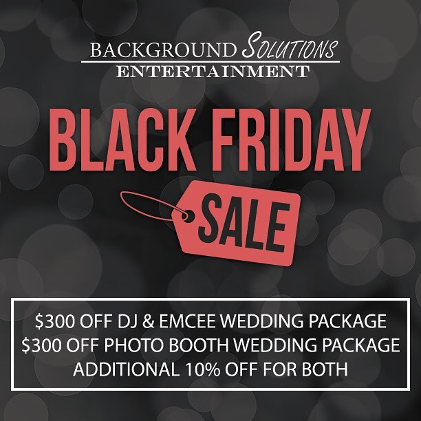 Planning a wedding? Don't miss our Black Friday specials! Get our best deal of the year on DJ and Photo Booth services, with savings up to $775! Find out more here: eventsbybse.com/blackfriday2016 (Link in bio)