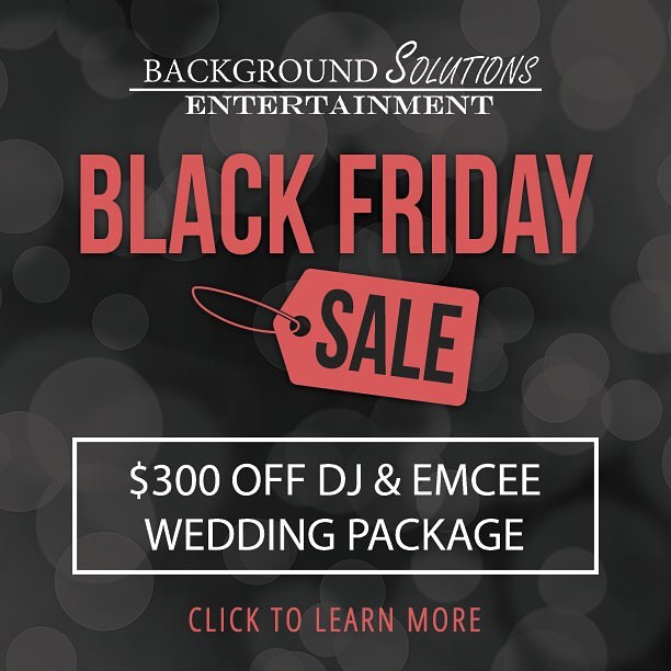 There's still time to take advantage of our Black Friday Sale! Score deals like $300 a wedding DJ package. Check out this and other offers here: eventsbybse.com/blackfriday2016 (link in bio)