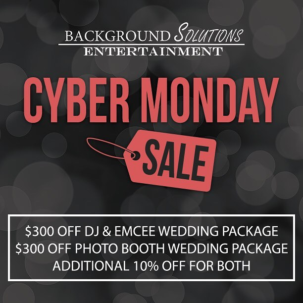 We're extending our specials for Cyber Monday! Last chance to get our best deal of the year on DJ or Photo Booth services. Don't miss out on savings up to $775! Learn more here: eventsbybse.com/blackfriday2016 (link in bio)