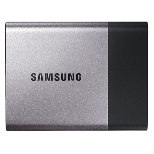 Samsung T3 500GB SSD - • Solid State Drive (SSD)• USB-C (USB 3.1)• USB-C to USB-A AdapterThis puppy is fast. That's all you need to know.