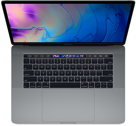 MacBook Pro (2018 model) - • macOS High Seirra• 2.2GHz 6-core eighth-generation Intel Core i7 processor• Turbo Boost up to 4.1GHz• Radeon Pro 555X with 4GB of GDDR5 memory• 16GB of 2400MHz DDR4 memory• 512GB of SSD storage• True Tone Retina Display (2800 x 1800)