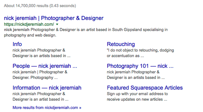 Google Search Results | nickdjeremiah.com