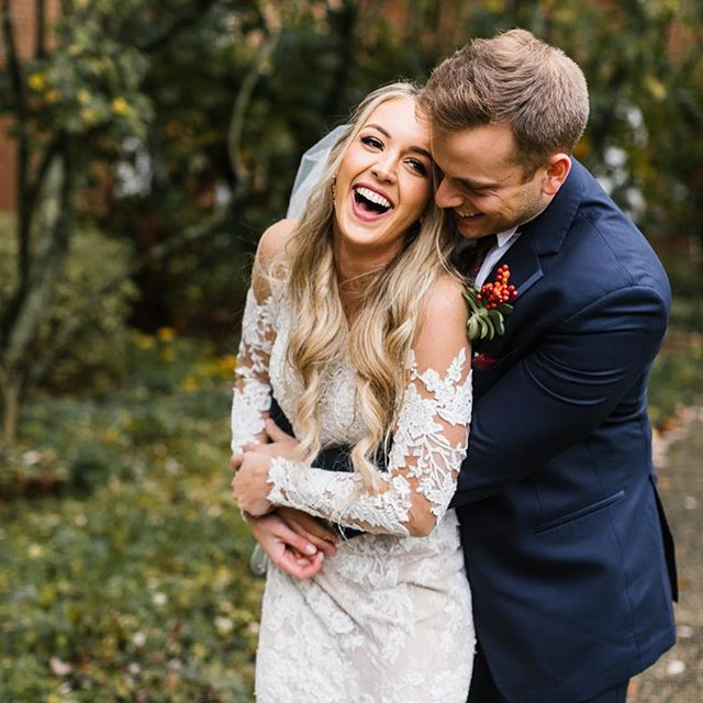Pure joy ❤️ such a sweet love these two have . . Makeup: Janay Beauty @janaybeauty  Dress: Gretchen Reece Bridal Couture @gretchen_reece_bridal_couture