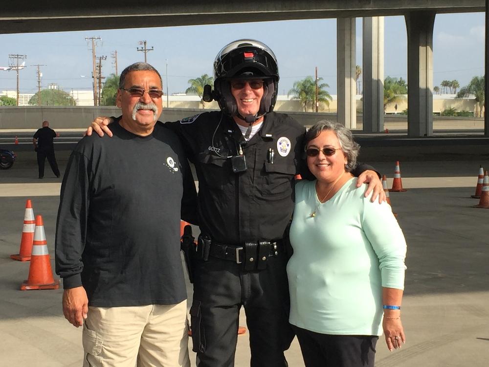 Lieutenant Ti Goetz with Mr. & Mrs. Luna