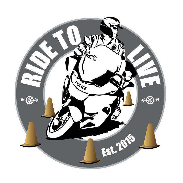 Ride to Live logo designed and kindly donated by Mark Dickinson , Sr. Graphic Artist/Designer at Kawasaki Motors Corp