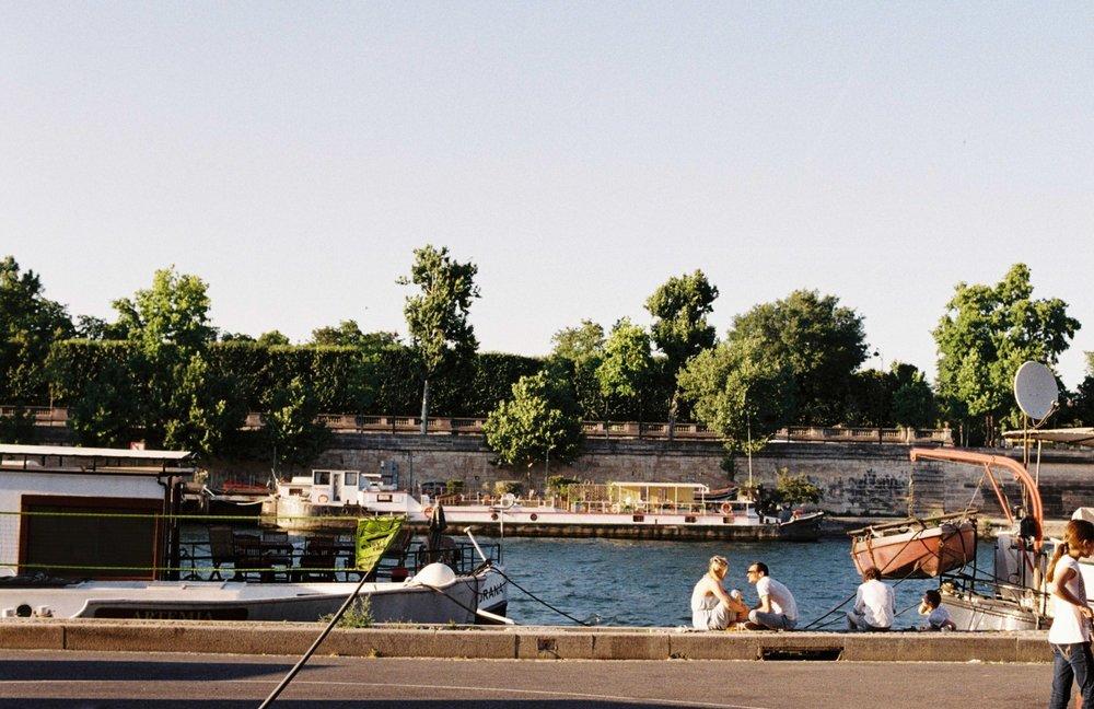 chilling / la Seine