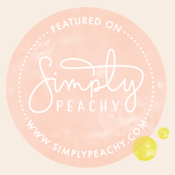 Featured on Simply Peachy