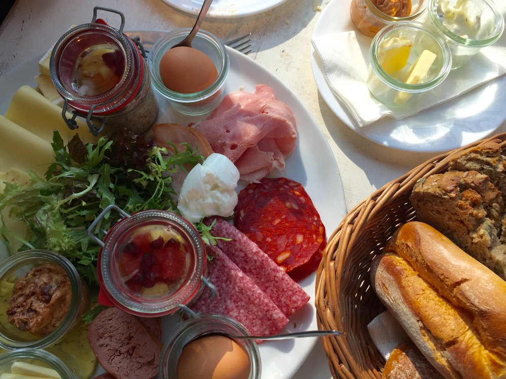 Typical German breakfast. This was exactly what my grandmother made for me.