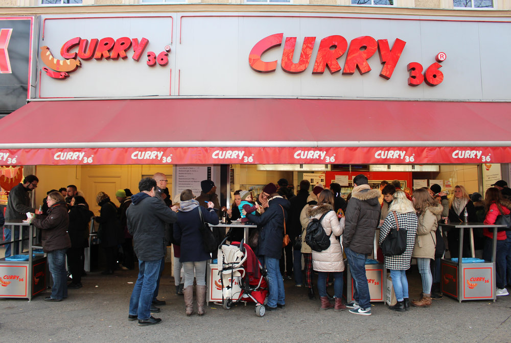You know what else German's are known for? Their sausage. We went to  Curry 36 , but you can go to any of them, they're all good.