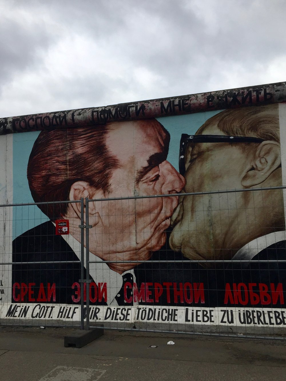 Of course I saw the  Berlin Wall .
