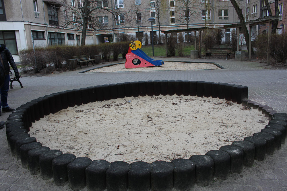 Yes, there is a sandbox now above the bunker Hitler supposedly committed suicide in.