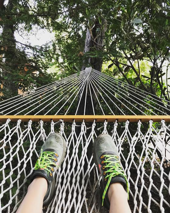 Relaxing hammocks are scattered throughout the property.