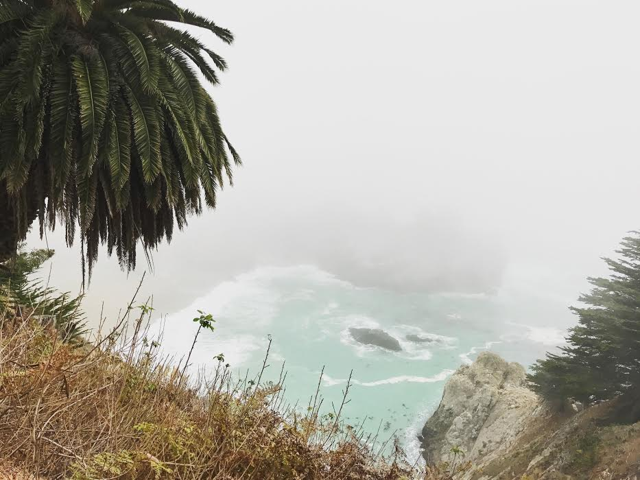 The falls are still beautiful on a foggy day.