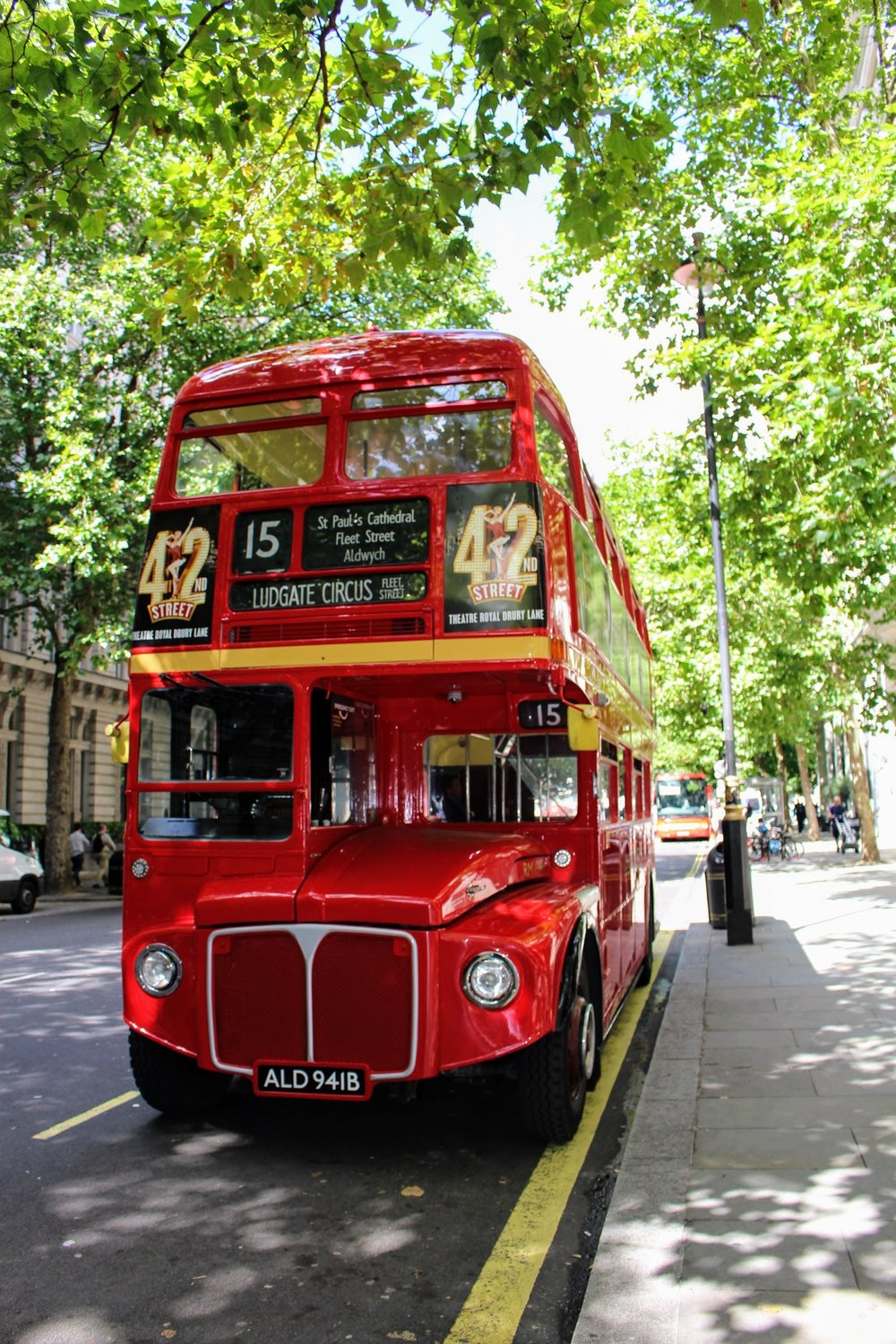I had to get a pic of the iconic double deckers! I did not ride in one. :(