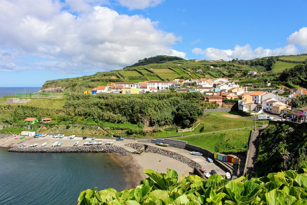 We cruised by one of the tiniest towns of Sao Miguel- Porto Formoso.
